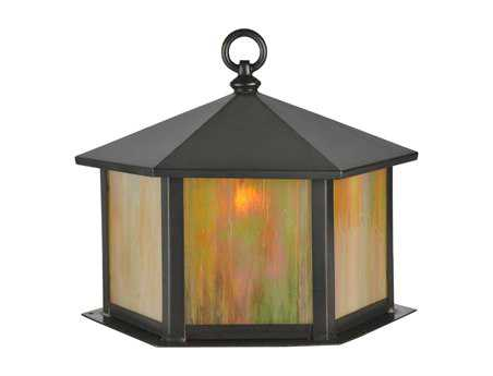 Meyda Tiffany Gazebo Craftsman Brown Outdoor Post Mount Light