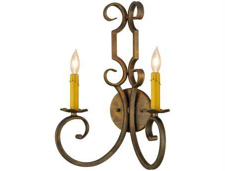Meyda Tiffany Carlo Two-Light Wall Sconce
