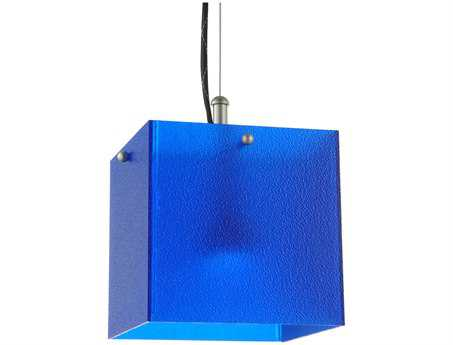 Meyda Tiffany Quadrum Blue LED Mini-Pendant Light