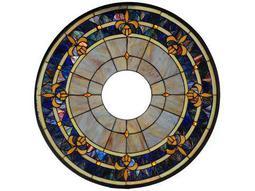 Meyda Tiffany Fleur-De-Lis Medallion Stained Glass Window