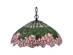 Meyda Tiffany Cabbage Rose Three-Light Pendant Light