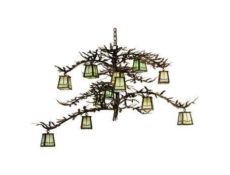 Meyda Tiffany Pine Branch Valley View 12-Light 50 Wide Grand Chandelier