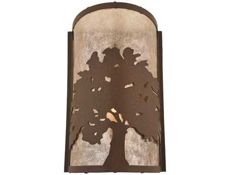 Meyda Tiffany Oak Tree Wall Sconce