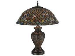 Meyda Tiffany Fishscale Multi-Color Table Lamp