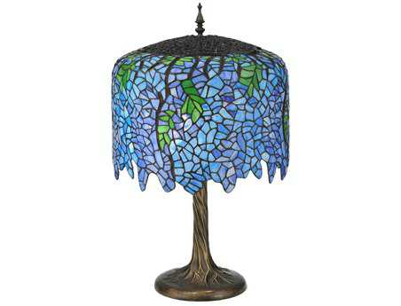Meyda Tiffany Wisteria Multi-Color Buffet Lamp
