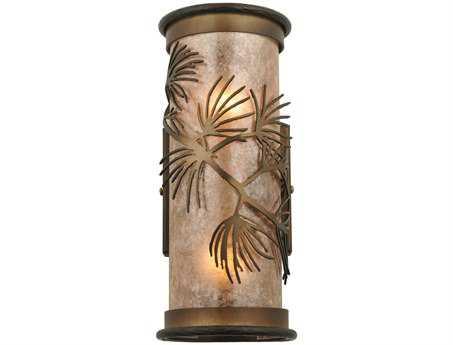 Meyda Tiffany Lone Pine Two-Light Wall Sconce