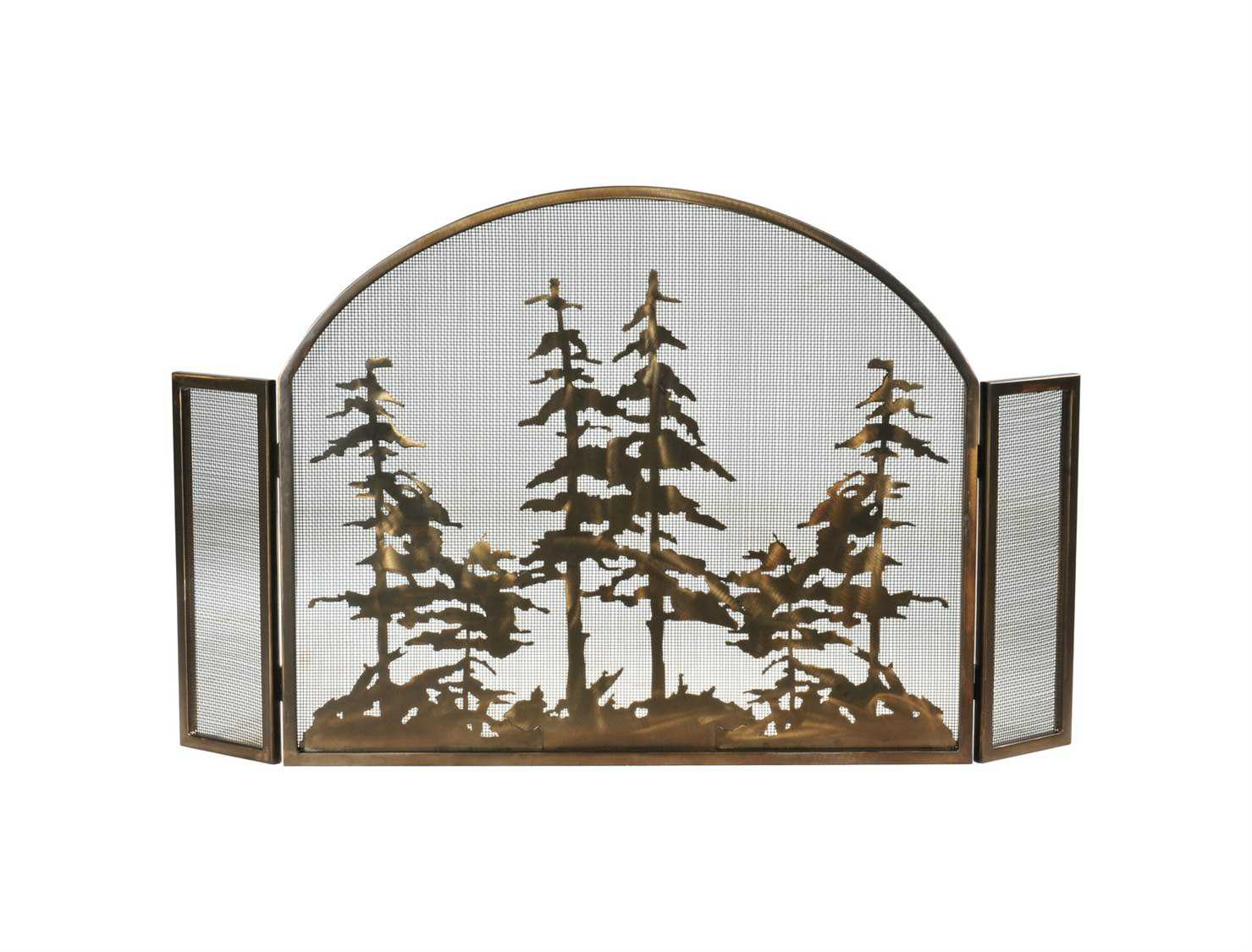 Meyda Tiffany Tall Pines Arched Fireplace Screen My119082