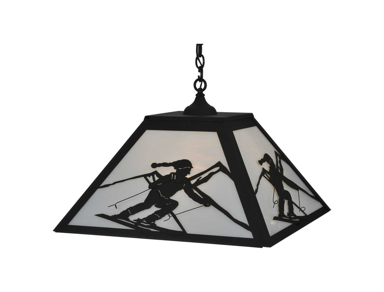 Meyda Tiffany Skier Three Light Pendant Light