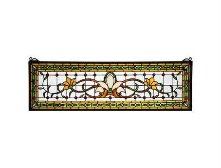 Meyda Tiffany Fairytale Transom Stained Glass Window