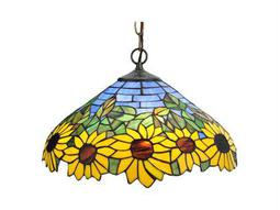 Meyda Tiffany Wild Sunflower Two-Light Pendant Light