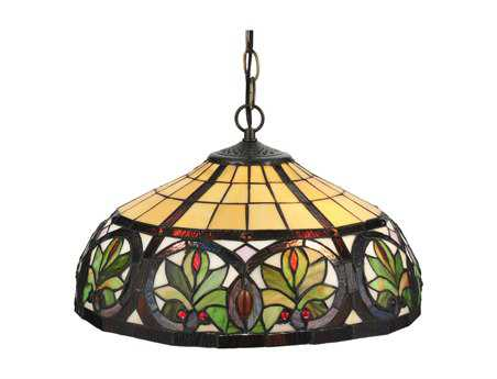 Meyda Tiffany Sunrise Two-Light Pendant Light