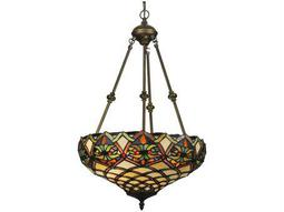 Meyda Tiffany Franco Inverted Two-Light Pendant Light