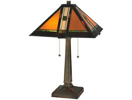 Meyda Tiffany Montana Mission Multi-Color Table Lamp