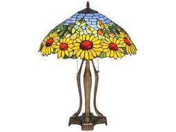 Meyda Tiffany Wild Sunflower Multi-Color Table Lamp