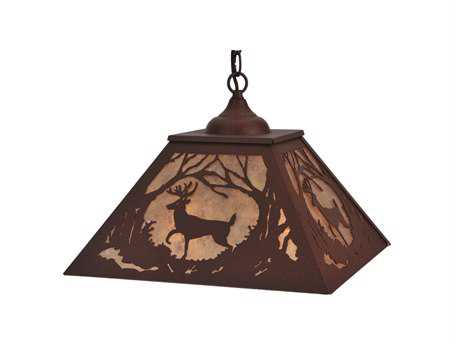 Meyda Tiffany Deer At Dawn Two-Light Pendant Light