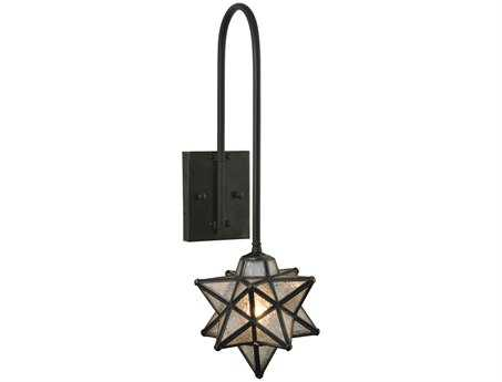 Meyda Tiffany Moravian Star Seedy Curved Arm Wall Sconce