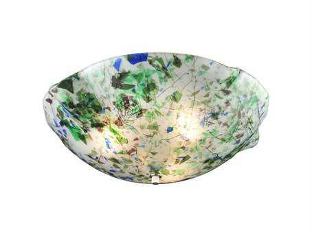 Meyda Tiffany Metro Fusion Organic Slumped Glass Three-Light Flush Mount Light