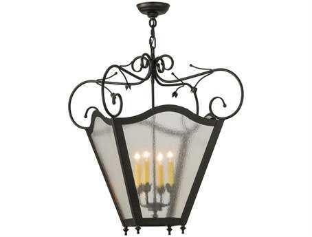 Meyda Tiffany Terena Hanging Lantern Four-Light Pendant Light