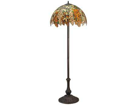Meyda Tiffany Laburnum Jadestone Multi-Color Floor Lamp
