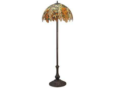 Meyda Tiffany Laburnum Jadestone Multi-Color Floor Lamp