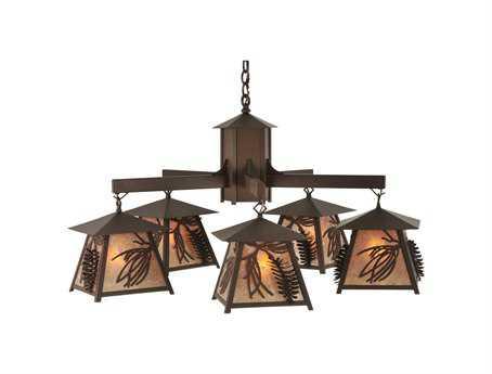 Meyda Tiffany Stillwater Scotch Pine Five-Light 40 Wide Chandelier