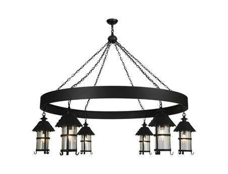 Meyda Tiffany Rutl & 6 Lantern Six-Light 65 Wide Grand Chandelier