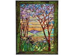 Meyda Tiffany Magnolia & Iris Stained Glass Window