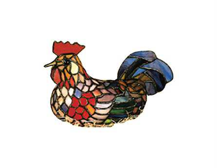 Meyda Tiffany Rooster Multi-Color Accent Table Lamp