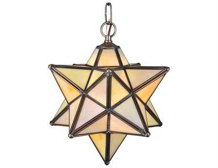 Meyda Tiffany Moravian Star Beige Iridescent Mini-Pendant Light