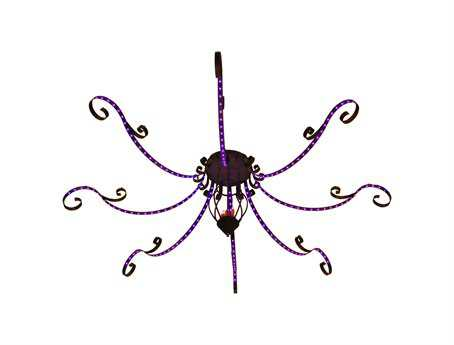 Meyda Tiffany Metro Pizza 8 Arm 222-Light 166 Wide LED Grand Chandelier