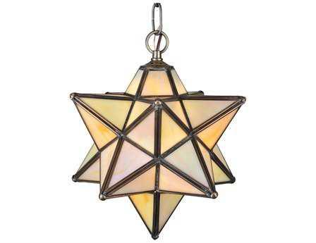 Meyda Tiffany Moravian Star Beige Iridescent Pendant Light