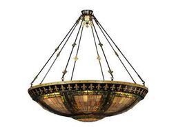 Meyda Tiffany Fleur-De-Lis 14-Light Inverted Pendant Light
