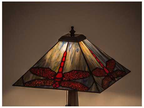 Meyda Tiffany Prairie Dragonfly Flame Orange 18'' Wide Shade