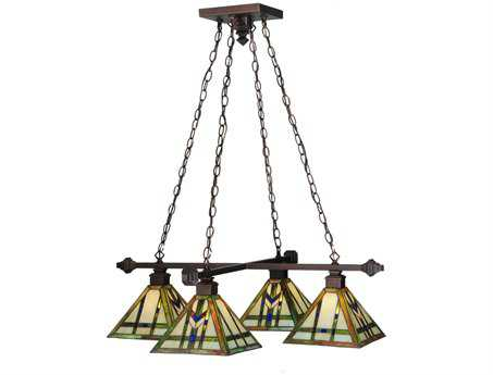 Meyda Tiffany Prairie Wheat Four-Light Mini-Chandelier