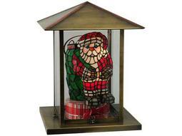 Meyda Tiffany Wonderl & Santa Claus Two-Light Outdoor Pier Mount Light