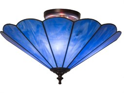 Meyda Tiffany Perennial Three-Light Flush Mount Light