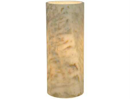 Meyda Tiffany Cylinder Light Green Jadestone Flat Top Candle Cover