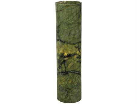 Meyda Tiffany Cylinder Green Jadestone Flat Top Candle Cover