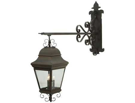 Meyda Tiffany Monaco Three-Light Lantern Outdoor Wall Light
