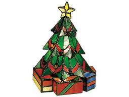 Meyda Tiffany Christmas Tree Multi-Color Accent Table Lamp