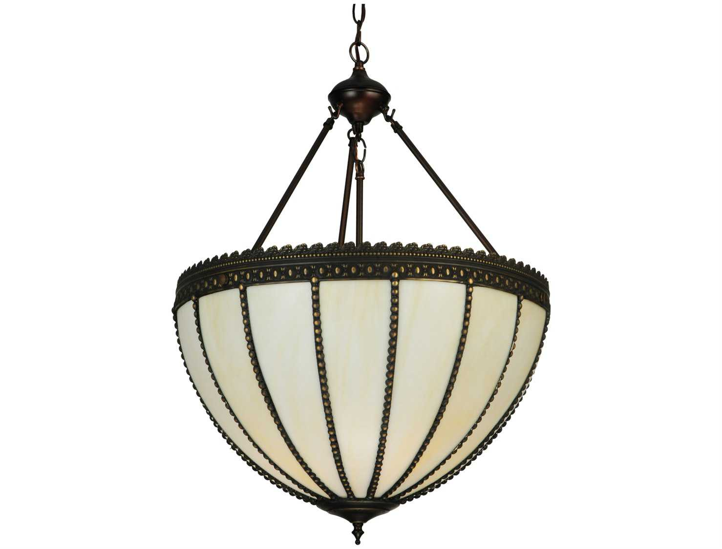 Meyda Tiffany Gothic Inverted Three Light Pendant Light