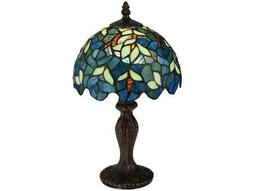 Meyda Tiffany Nightfall Wisteria Multi-Color Mini Table Lamp