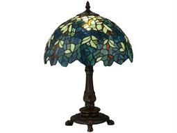 Meyda Tiffany Nightfall Wisteria Multi-Color Accent Table Lamp