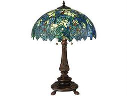 Meyda Tiffany Nightfall Wisteria Multi-Color Table Lamp