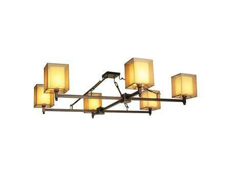 Meyda Tiffany Horizon Bay Six-Light Semi-Flush Mount Light
