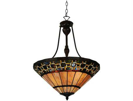 Meyda Tiffany Ilona Inverted Three-Light Pendant Light