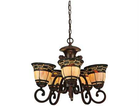 Meyda Tiffany Ilona 5 Arm Five-Light 20 Wide Mini-Chandelier