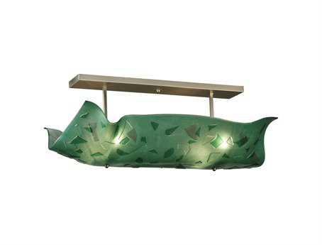 Meyda Tiffany Metro Fusion Seaweed Glass Four-Light Semi-Flush Mount Light