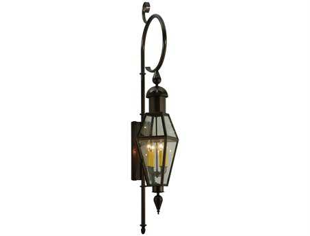 Meyda Tiffany August Four-Light Lantern Outdoor Wall Light