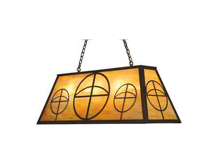 Meyda Tiffany Circle Cross Nine-Light Oblong Pendant Light
